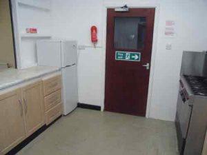 Kitchen showing servery